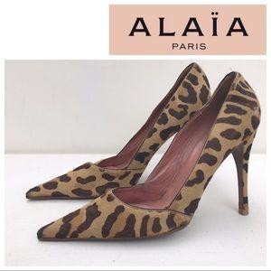 ALAIA leopard pumps heels 40 shoes